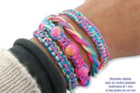 Confectionner des bracelets Shamballa multicolores - Bijoux Shamballas - 10doigts.fr