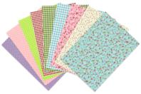 Tissus adhésifs - Set de 9 coupons - Tissu auto-adhésif - 10doigts.fr