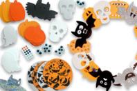 Mega pack formes d'Halloween mousse - Décorations à coller - 10doigts.fr
