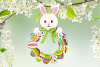 Couronne de Pâques lapin et œufs - Kits activités de Pâques - 10doigts.fr