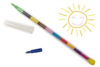 Crayon pousse-mine multicolore - Crayons de couleurs - 10doigts.fr