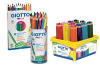 Crayons de couleur taille Maxi - GIOTTO Méga - Crayons de couleurs - 10doigts.fr