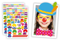 Crazy Stickers : Déguise-toi en clown ! - Crazy Look & Crazy Face Stickers - 10doigts.fr
