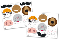 Crazy Nose Stickers - 12 pièces - Crazy Look & Crazy Face Stickers - 10doigts.fr