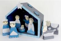 Crèche en bois - 18 cm - Supports de Noël en bois - 10doigts.fr