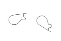 Crochets d'oreille argentés - Lot de 10 - Boucles et pendentifs d'oreilles - 10doigts.fr
