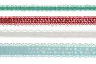 Dentelle adhésive en papier - Hiver - Masking tape (Washi tape) - 10doigts.fr
