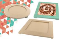 Dessous de plat pour Mosaïques - 26 cm - Plateaux en bois - 10doigts.fr
