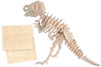 Dinosaure 3D en bois naturel à monter - Maquettes en bois - 10doigts.fr