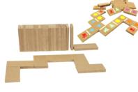 Dominos en bois - 28 pièces - Pièces de construction - 10doigts.fr