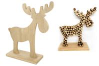 Élan en bois naturel - Noël - 10doigts.fr