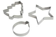Maxi emporte pièces en métal : sapin, étoile, boule - Emporte-pièces - 10doigts.fr