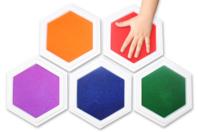 Encreurs géants - 5 couleurs assorties - Encreurs - 10doigts.fr