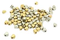 Perles intercalaires cœur or et argent - 100 perles - Perles intercalaires & charm's - 10doigts.fr