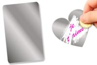 Feuille de film à gratter adhésive - 20 x 15 cm - Films et feuilles plastique - 10doigts.fr