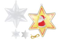 Étoile 3 en 1 à suspendre - Plastique Transparent - 10doigts.fr