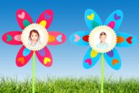 """Kit fabrication fleurs cadre photos - 12 fleurs - Kits activités """"Cadeau à offrir"""" - 10doigts.fr"""
