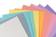 Caoutchouc mousse 20 x 30 cm, 10 feuilles couleurs pastels - Caoutchouc souple - 10doigts.fr