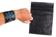 Feuille de cuir synthétique perforée - Support textile à customiser - 10doigts.fr