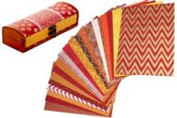Papiers Indiens,Collection Mumbai - 20 feuilles artisanales - Papier artisanal naturel - 10doigts.fr
