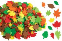 Feuilles d'arbres en caoutchouc souple - 500 pièces - Fleurs et feuilles - 10doigts.fr