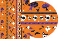 Décopatch N°679 - Set de 3 feuilles - Halloween - 10doigts.fr
