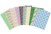 Papiers adhésifs washi paper -10 feuilles assorties - Washi paper / Magic paper - 10doigts.fr