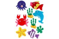 Stickers de la mer en feutrine - Formes en Feutrine Autocollante - 10doigts.fr