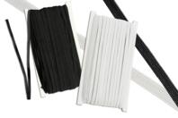 Fil élastique plat Blanc ou noir - 50 mètres - Élastiques - 10doigts.fr