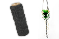 Cordelette en coton noir - 10 m - Cordes naturelles - 10doigts.fr