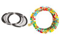 Fil métal argenté à mémoire de forme - Bracelets - 10doigts.fr