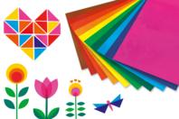 Films colorés pour la décoration des fenêtres - Set de 10 - Feuilles en plastique - 10doigts.fr
