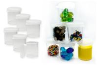 Boîtes de rangement transparente - 6 pièces - Rangements - 10doigts.fr