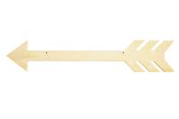 Flèche en bois à suspendre - 40 cm - Plaques de porte - 10doigts.fr