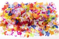Fleurs en soie synthétique - Set de 600 - Fleurs et feuilles - 10doigts.fr