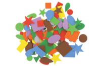 Stickers assortis en caoutchouc - 144 pièces - Formes en Mousse autocollante - 10doigts.fr
