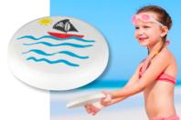 Frisbee à décorer - Support blanc - 10doigts.fr