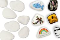 Galets en marbre blanc - 6 pièces - Galets et coquillages - 10doigts.fr