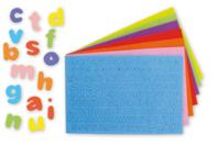 Stickers lettres minuscules en caoutchouc - 950 pièces - Caoutchouc souple auto-adhésif - 10doigts.fr