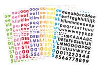 Gommettes alphabet - 8 couleurs assorties - Alphabets, Lettres, Chiffres - 10doigts.fr