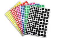 Gommettes carrées - 18 planches - Gommettes - 10doigts.fr