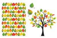 Gommettes feuilles d'arbres - 6 planches - Gommettes Saisons - 10doigts.fr