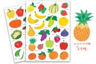Gommettes fruits - 2 planches - Gommettes Fruits et Légumes - 10doigts.fr