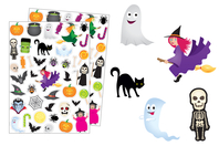 Gommettes Halloween - Set de 80 gommettes - Halloween - 10doigts.fr
