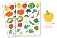 Gommettes légumes - 2 planches - Gommettes Fruits et Légumes - 10doigts.fr