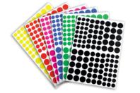 Gommettes rondes 6 couleurs - 18 planches - Gommettes - 10doigts.fr