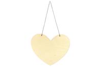 Grand coeur en bois à suspendre - Plaques de porte - 10doigts.fr
