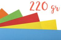 Papiers médiums teintés (220 gr) 50 x 70 cm - Couleurs au choix - Ramettes de papiers - 10doigts.fr