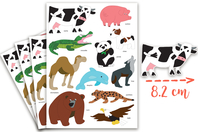 Maxi Gommettes animaux 4 - 4 Planches - Gommettes Animaux - 10doigts.fr