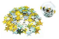 Grandes paillettes étoiles holographiques or et argent - Set de 140 paillettes - Paillettes à saupoudrer - 10doigts.fr